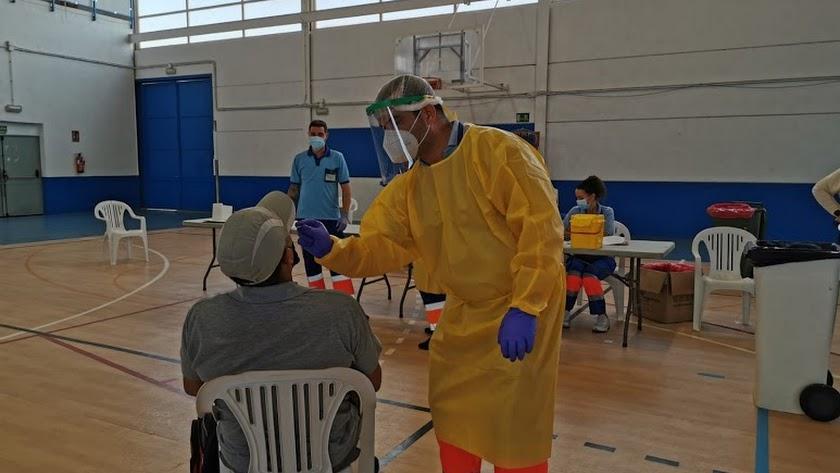 En Pulpí se hizo un cribado masivo ante la elevada incidencia del coronavirus.