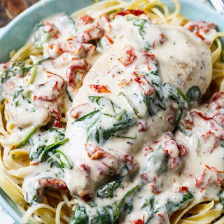 Slow Cooker Creamy Tuscan Chicken.