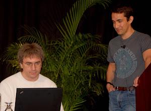 Photo: Steve Northover and Sam Ramji (Microsoft Open Source labs)