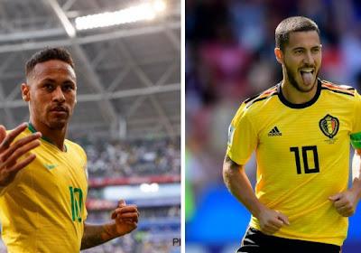 Belgique/Brésil: le meilleur onze