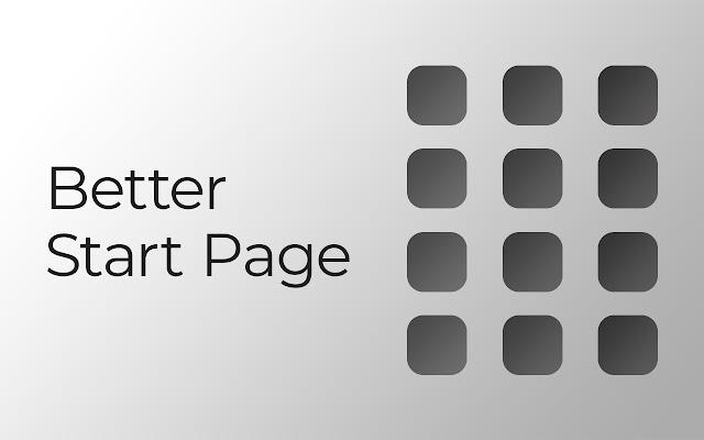 Better Start Page