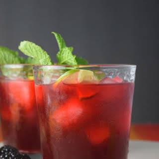 {Easy, 5 Ingredient} Blackberry Mint Limeade.