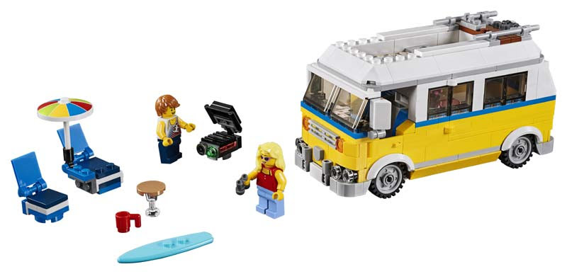Contenido de Lego® 31079 Furgoneta de Playa