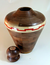 "Photo: Bob Grudberg 13"" x 7"" urn [walnut]"