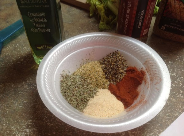 Preheat oven to 375 degrees F. Combine spices in a small bowl, & stir...