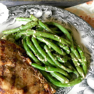 Roasted Green Beans with Parmesan & EVOO
