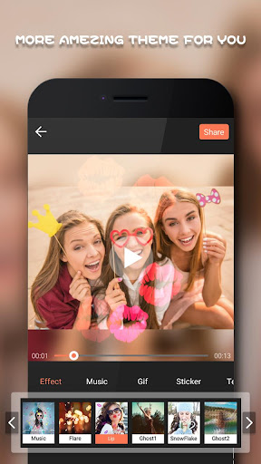 Beauty Video Editor,Cut,Music & Square Pic Collage 1.53 screenshots 2
