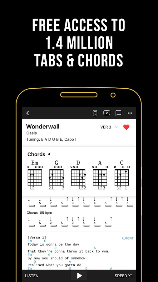 Ultimate Guitar: Chords & Tabs- screenshot