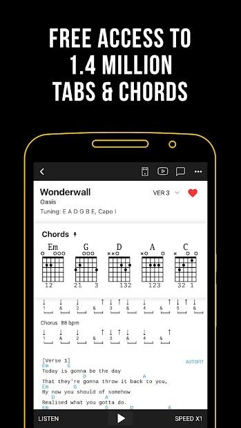 Ultimate Guitar: Chords & Tabs Android App Screenshot