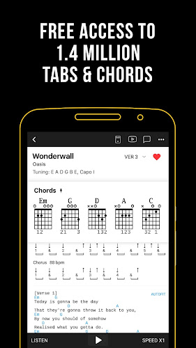 Ultimate Guitar: Chords & Tabs Android App Screenshot