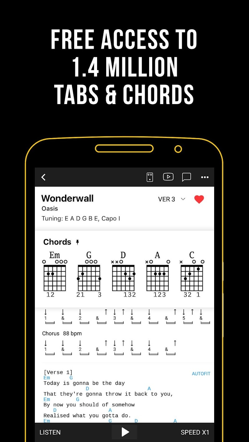 Ultimate Guitar: Chords & Tabs Screenshot 0