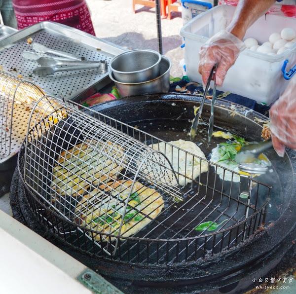 全台最便宜!蔥油餅+九層塔+蛋才15元 每日限量200份 晚來就吃不到– 灣裡蔥仔餅 灣裡美食