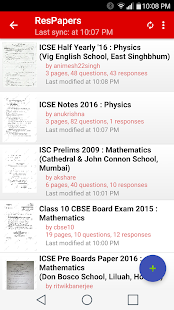 ResApp: ICSE CBSE Exam Papers- screenshot thumbnail