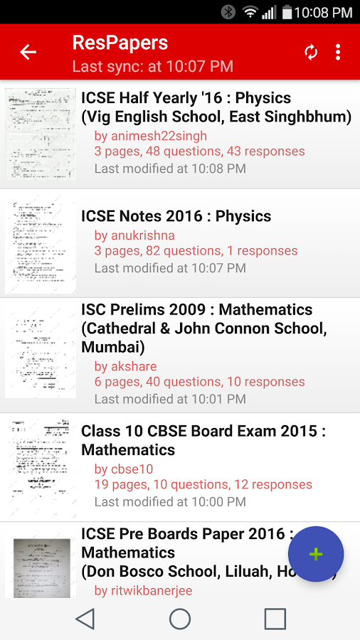 ResApp: ICSE CBSE Exam Papers- screenshot