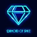 Diamond of space icon