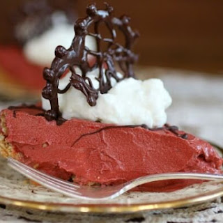 Red Velvet French Silk Pie