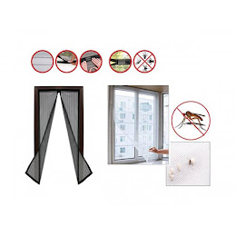 Perdea usa cu inchidere magnetica + Plasa antiinsecte fereastra