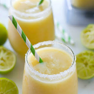Tropical Pineapple Margarita Slushies.