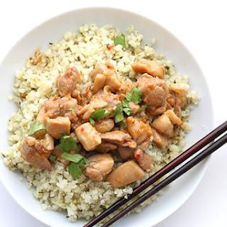 Lemongrass Chicken with Cilantro Cauliflower Rice