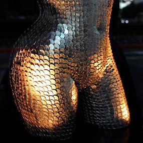 Golden body by Carmen Hahn - Artistic Objects Other Objects ( sculpture, body, coins, artistic objects, women, golden,  )