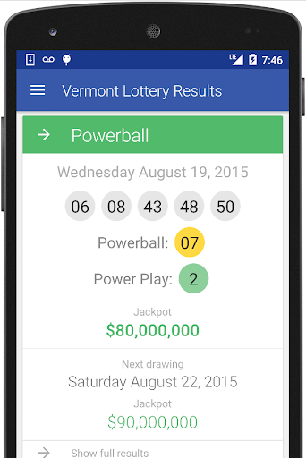VT Lottery Results
