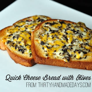 Quick Cheese Bread with Olives.