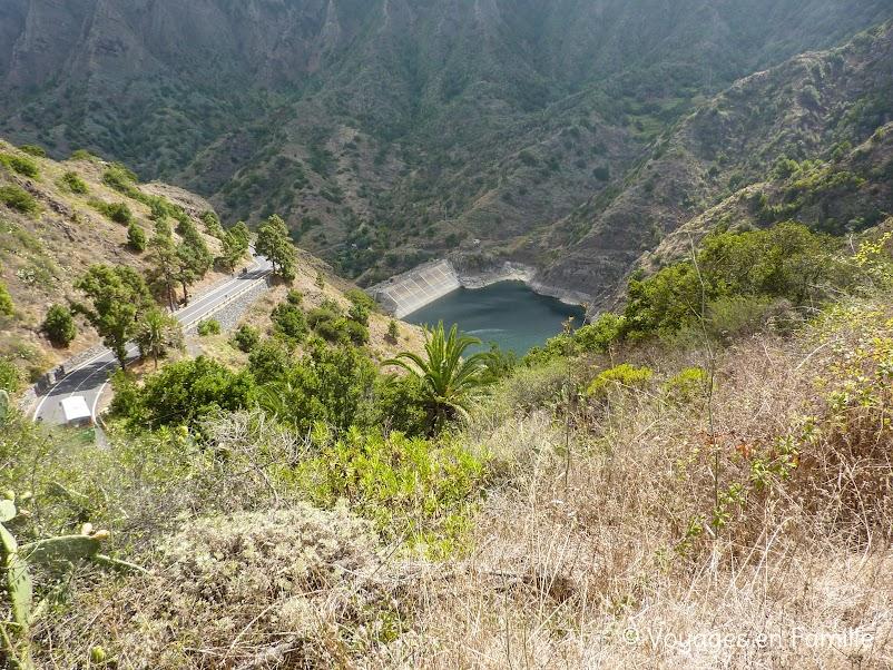 Rando El Cedro - Hermigua - retenue eau