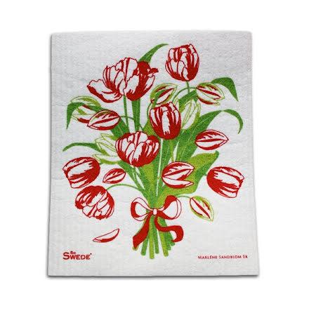 Disktrasa röd tulpanbukett från Sira Form