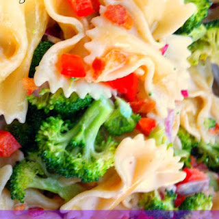 Pepper and Broccoli Pasta Salad.