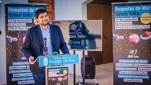 El concejal, en la presentación de la jornada 'Europe Space Talks'.