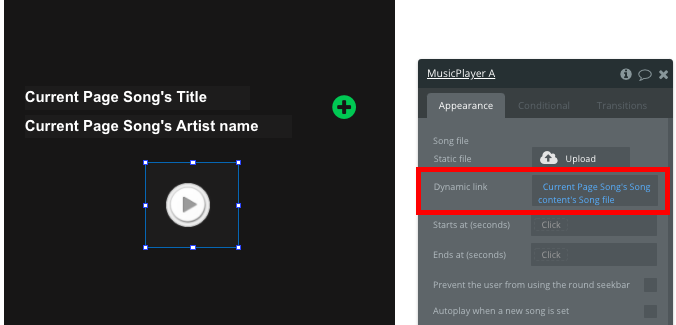 Bubble Spotify Clone Tutorial Music Player Page