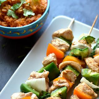 Chicken Fajita Kabobs.