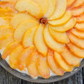 Peach No-Bake Cheesecake.
