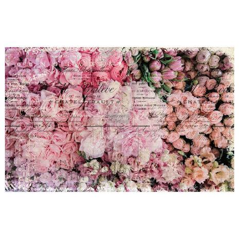 Prima Re-Design Decoupage Tissue Paper 19X30 - Flower Market