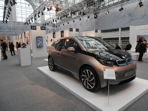 Photo: The German Design Awards exhibit featured items from a variety of consumer categories. Here, the BMW i3 electric car. #GermanDesignAward