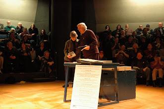 Photo: Frank Kroncke honors Karen J. Clark, social justice stalwart and leader