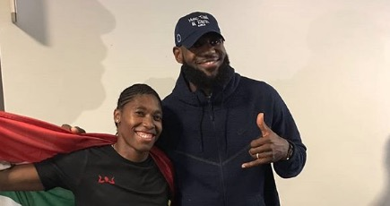 Caster Semenya and Lebron James chill together in Berlin.