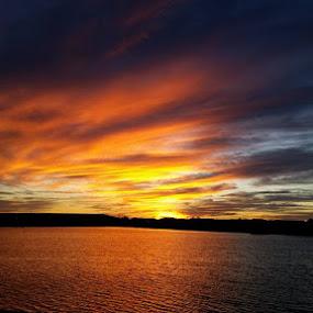 sunset by Asya Atanasova - Uncategorized All Uncategorized ( clouds, sky, sunset, lake )