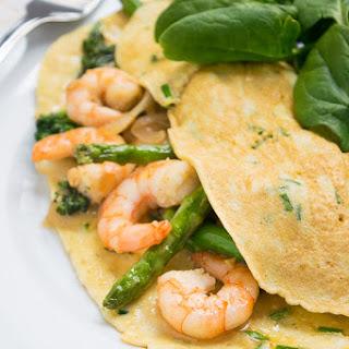 Prawn Asparagus Omelette