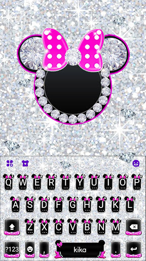 Silver Pink Minny Keyboard Theme 1.0 screenshots 1