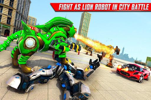 Lion Robot Car Transforming Games: Robot Shooting 1.4 screenshots 6