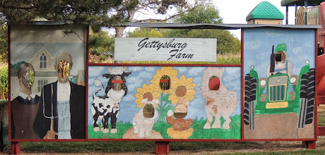 Photo: the mural setup at the kid's playground at Gettysburg Farm Thousand Trails - Outdoor World