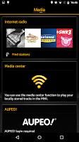 Screenshot of Audi MMI connect