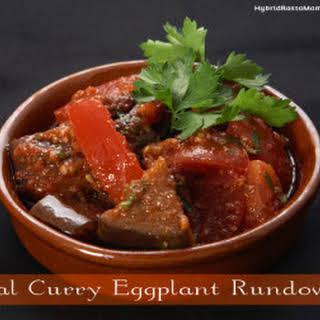 Ital Curry Eggplant Rundown.