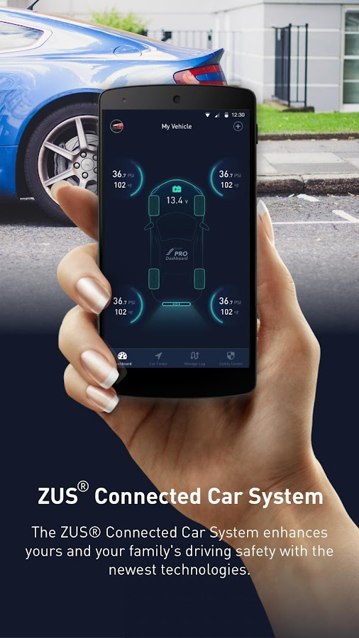 ZUS -Smart Car Locator & Smart Tire Safety Monitor- screenshot