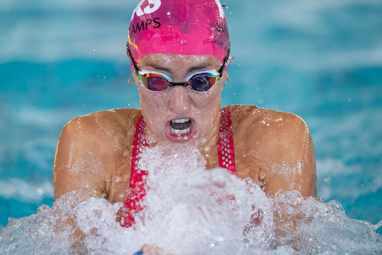 Tatjana Schoenmaker broke the SA women's 50m breaststroke record twice during day one of the SA Invitational Aquatics Championship at the Newton Park Swimming Pool on Wednesday