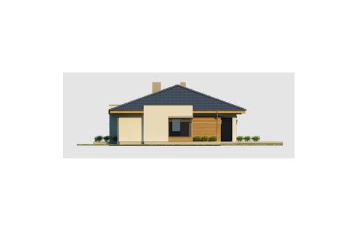 Alabama 3 wersja D z podwójnym garażem - Elewacja prawa