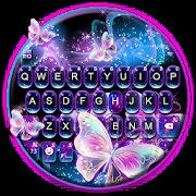 Sparkle Neon Butterfly Keyboard Theme