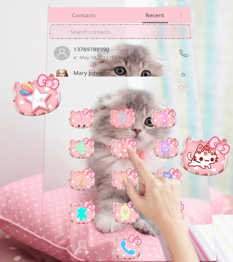 Pink Cute Kitty Cat Theme  screenshots 13