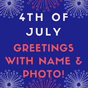 Name on 4th of July Greeting Cards